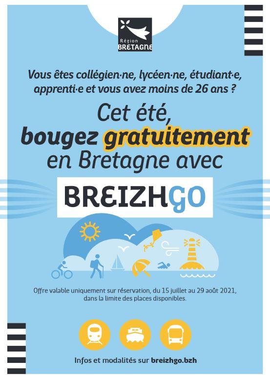 Étudiant(e-es) voyagez gratuitement avec BREIZHGO jusqu'au dimanche 29 août