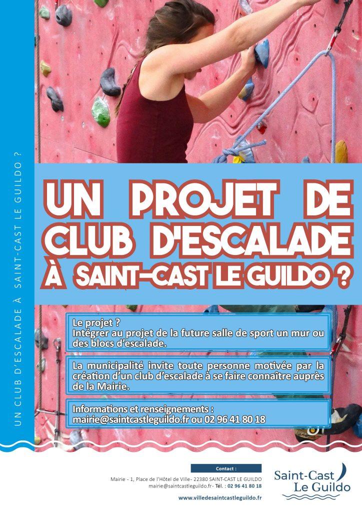 Un projet de club d'escalade à Saint-Cast Le Guildo.